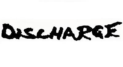 【黒】 2枚セット売り カッティング ステッカー デカール ハードコアパンク HARD CORE PUNK DISCHARGE ディスチャージ ロゴ