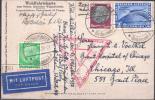 ◆古いドイツ 1933年 ツェッペリン シカゴ博カード ?◆