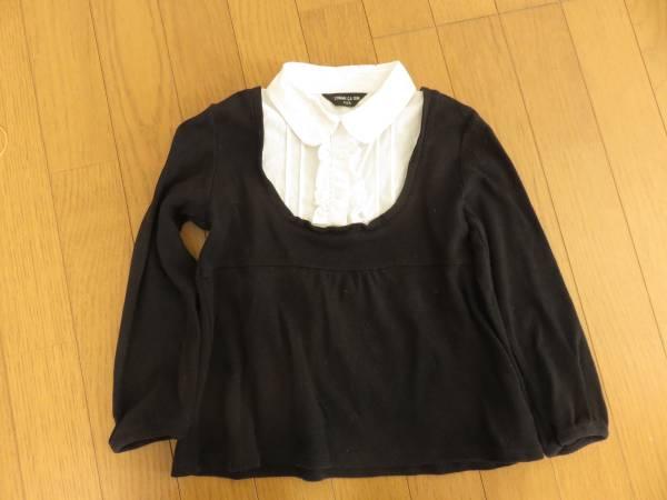 コムサ・イムズ 重ね着風 長袖シャツ+ニット 110cm 発表会やフォーマルにも _画像1