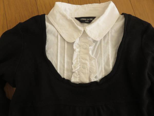 コムサ・イムズ 重ね着風 長袖シャツ+ニット 110cm 発表会やフォーマルにも _画像2