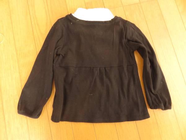 コムサ・イムズ 重ね着風 長袖シャツ+ニット 110cm 発表会やフォーマルにも _画像3
