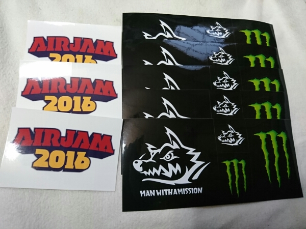 MAN WITH A MISSION MONSTER ENERGY AIRJAM2016ステッカー