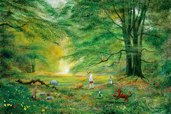 Disney Fine Art ディズニーファインアート クマのプーさん 限定 レア Peter Ellenshaw