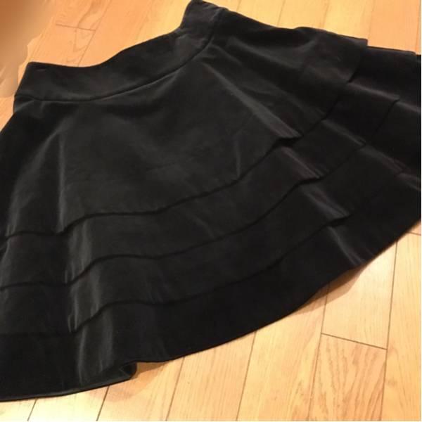 【即決】 美品 ジェーンマープル Jane Marple ロイヤル別珍 スカート 黒