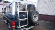 ランクル70 アルミ リヤ ラダー ステー金具 ボルト付属