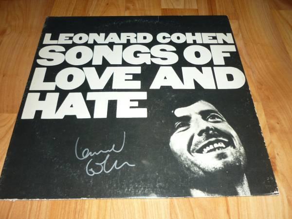 送料込 【Leonard Cohen レナード・コーエン】直筆サイン レコード