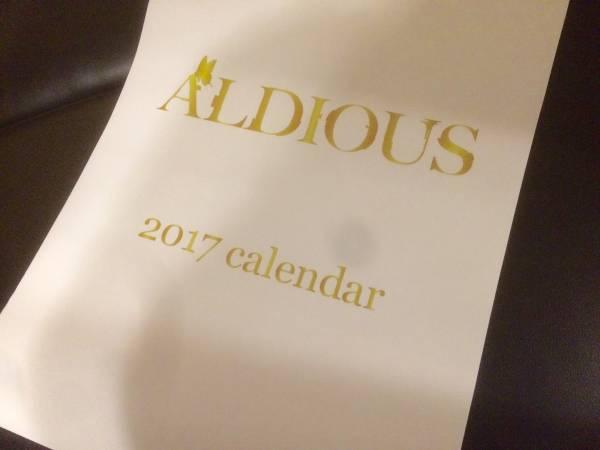 2017年/オフィシャルカレンダー/ALDIOUS/アルディアス/カレンダー