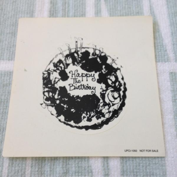 【貴重非売品公式】The Birthday『ローラーズ・ロマンティックス ステッカー』