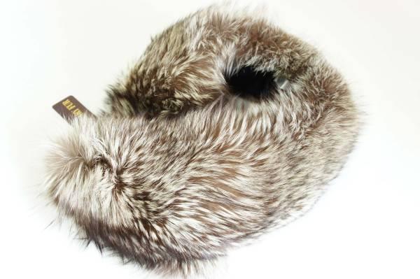 ¥49,000 【極上】 SAGA FOX 上質で美しい毛並み 天然色 高級 シルバーフォックスファー 毛皮 マフラー 【 Lサイズ 】_極上SAGA FOX高級シルバーフォックスファー