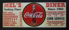 ★★★ コカコーラ MEL'S DINER メニュー看板 1962 ドライブイン Coca Cola ★★★