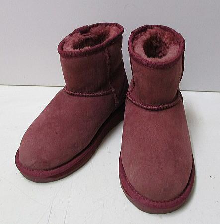 23)22.5cmサイズ* emu エミュ ムートンファーレザー革 靴...