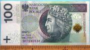 世界の紙幣【ポーランド共和国】現行高額100ズロチ 2012年 未使用 一円〜