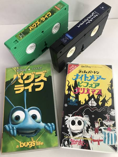 Disney A Bug S Life Nightmare Before Christmas Tim Barton 2 Set Vhs Japanese Dubbed Version Real Yahoo Auction Salling