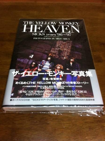 初版 イエローモンキー HEAVEN 本 イエモン 写真集 DVD付き ライブグッズの画像