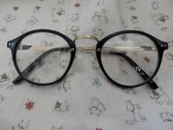 CeLLボストンメガネUVカット伊達眼鏡黒