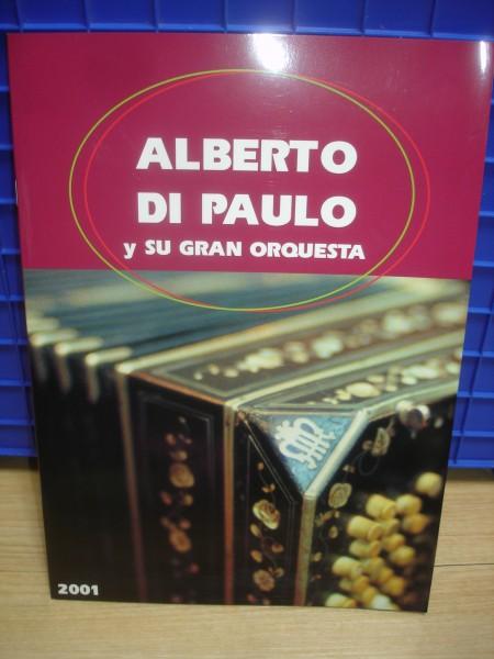 2001年■アルベルト・ディパウロ コンサートパンフレット/25曲/アルゼンチン タンゴ