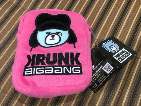 BIGBANG アップリケポーチ ジヨン G-DRAGON KRUNK 新品タグ付き 非売品