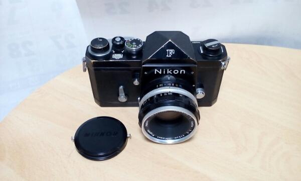 ニコン Nikon F 初期型 NIKKOR -S AUTO 1:2 f=5cm 付き