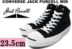 new goods CONVERSE Jack purcell mid black 23.5cm black black canvas Converse JACK PURCELL MID BLACK