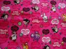 ハクション大魔王の娘あくびちゃん/アクビガール オックス生地/布:105×300cm動物柄:ピンク
