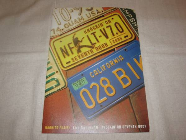 藤木直人 パンフレット KNOCKIN' ON 7th DOOR Live Tour 7.0