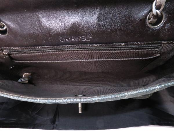 本物保証|シャネル チョコバー ステッチ チェーン ショルダー バッグ デニム CC ココマーク レザー 人気良品 ヴィンテージ CHANEL_画像3