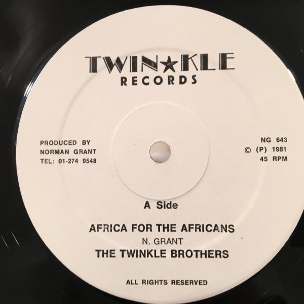 ★Twinkle Brothers/Africa For The Africans★JAH SHAKA KILLER_画像1