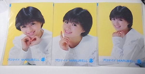 マルベル堂生写真★ブロマイド 酒井法子3枚+おまけ1枚♪