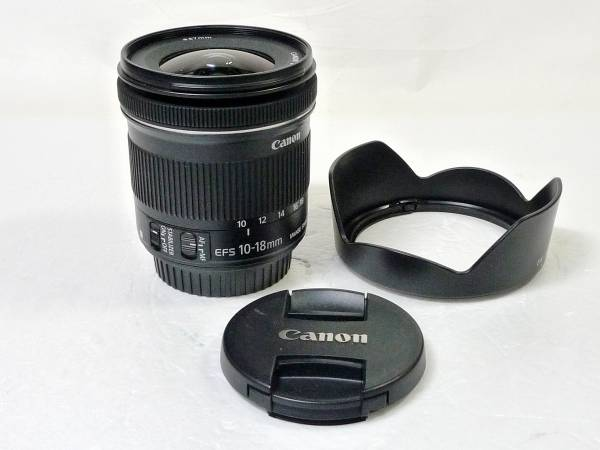 ■CANON EF-S 10-18mm F4.5-5.6 IS STM フード付 美品