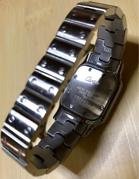 カルティエ 腕時計 サントスガルべSM レディース 中古 本物!_画像2