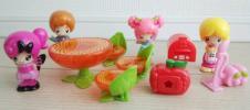 こえだちゃん 人形と家具/ファミリーセット パパ ママ アゲハちゃん チェリーちゃん こえだちゃんと木のおうち おしゃべりコレクション