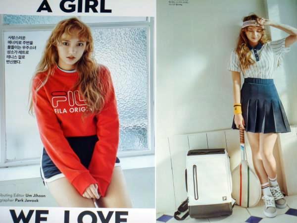 宇宙少女*ソンソ☆彡韓国雑誌切り抜き 8ページ 2017年2月号