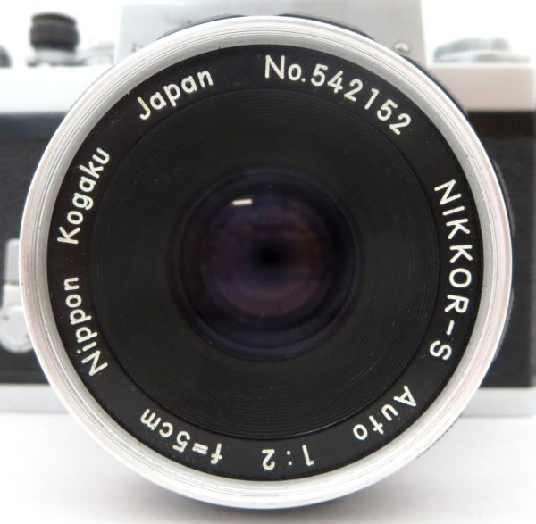 Nikon F NIKKOR-S Auto 1:2 f=5cm ニコン エフ 付属品有 1YIT-011P_画像2