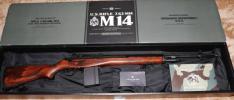 東京マルイ M14 電動ガン CAW(クラフトアップルワークス)製ウッドストック装着品