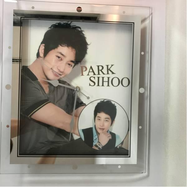 【未使用・新品同様】韓流スター パクシフ ガラス掛時計