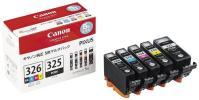 【1円】Canon インク カートリッジ 純正 BCI-326(BK/C/M/Y)+BCI-325 5色マルチパック 【新品未使用】