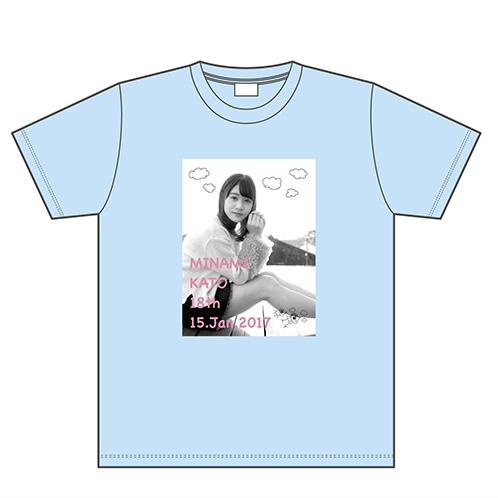 【加藤美南 生誕T + 劇場公演生写真 + 配布物】NGT48 生誕記念Tシャツ&生写真セット 2017年1月度 ライブグッズの画像