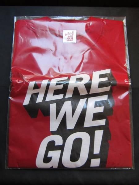 未開封 嵐 2002 ライブツアー HERE WE GO Tシャツ 赤色