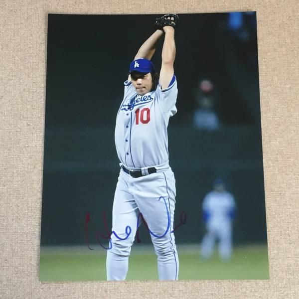 MLB●ドジャース 野茂英雄 直筆サインフォトA グッズの画像