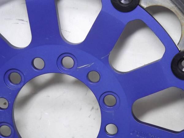 青い(マット調)スリットサンスター XJR400 TRX850 TDM850 FZ400 FJ1200 TZR250 検 ブレンボ ブレーキング ガルファー SRX400 SRX600 R1-Z 3_画像3