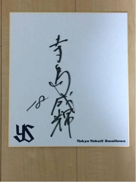 東京ヤクルトスワローズ 寺島成輝直筆サイン色紙 球団ロゴ色紙 1 グッズの画像