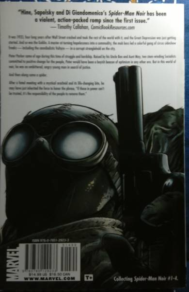 /3.20/ Spider-Man Noir (英語) ペーパーバック Marvel 2009 170204_画像2