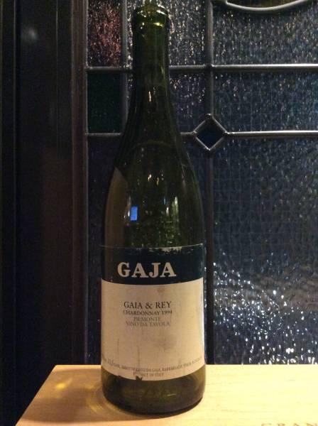 ヴィンテージ'94 ワイン空き瓶 ガヤ シャルドネ イタリア白の最高峰!_画像1