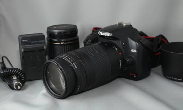 キャノン デジタル一眼レフ Canon EOS Kiss X2 標準・望遠 純正Wズーム レンズ付き 軽量 一眼レフ入門に!