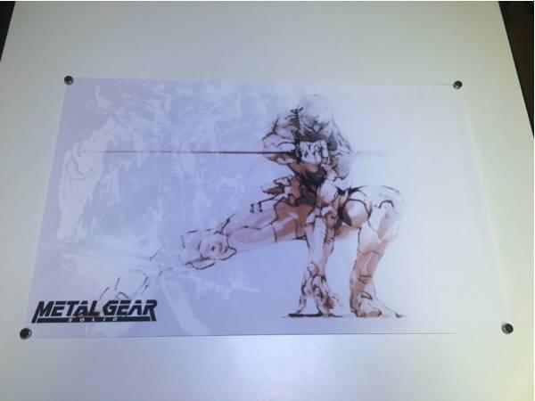 メタルギアソリッド サイボーグ忍者 56cm×35cm シルクポスター 新品 グレイフォックス ヌル