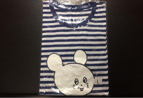 キュウソネコカミ ボーダーTシャツ 青 L /バンドインディーズグッズCD ライブグッズの画像
