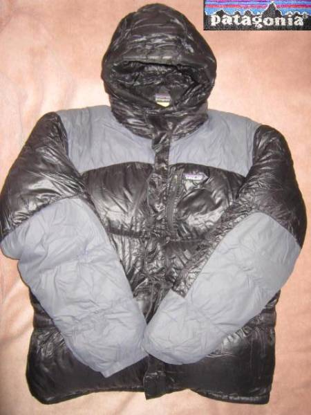 超レア!激安 即決! patagonia パタゴニア ダウンジャケット 黒/灰 XLサイズ