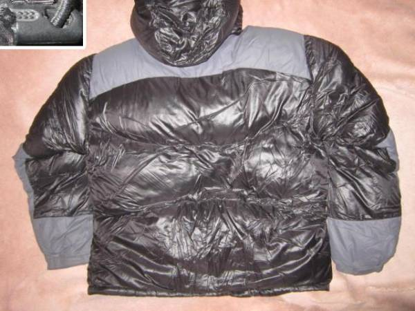 超レア!激安 即決! patagonia パタゴニア ダウンジャケット 黒/灰 XLサイズ_画像3