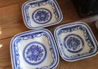 【ポルトガル スクエア ボウル プレート 3枚】2種サイズ 大皿 深皿 盛皿 検)ポーランド