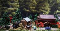 ●N 1/150 大杉と神社のある昭和の情景